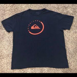 Quicksilver Blue Red Surf Beach Ocean T shirt